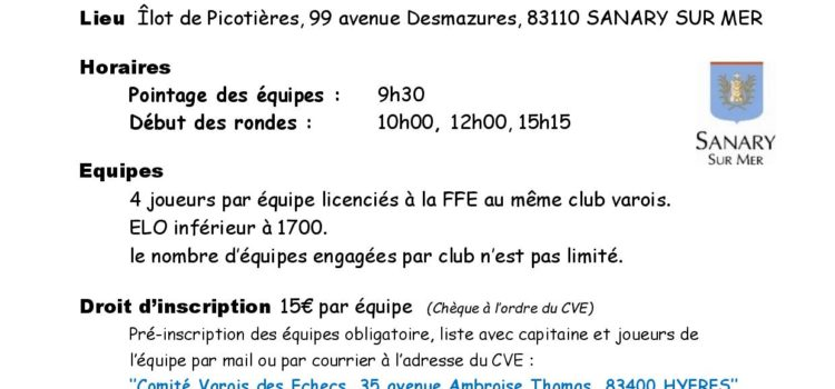 Coupe Loubatière et Championnat du Var Jeunes .